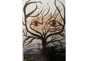 Ausgemergelter Baum